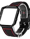 Rouge / Noir / Blanc Cuir Bracelet Sport Pour Fitbit Regarder 23mm