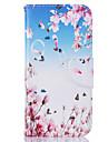 Для Кошелек / Бумажник для карт / со стендом / С узором Кейс для Чехол Кейс для Бабочка Твердый Искусственная кожа SamsungS7 edge / S7 /