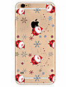 Capinha Para Apple iPhone X iPhone 8 Plus iPhone 7 iPhone 6 Capinha iPhone 5 Ultra-Fina Estampada Capa Traseira Natal Macia TPU para