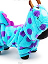 Dog Costume Hoodie Jumpsuit Dog Clothes Cute Cosplay Cartoon Blue Costume For Pets