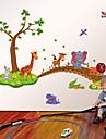 Животные Мода Мультипликация Наклейки Простые наклейки Декоративные наклейки на стены Украшение дома Наклейка на стену Стена