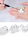 paleta bonito da arte do prego anel de dedo metal misturar gel acrilico pintura polones instrumentos de manicure desenho cor da pintura