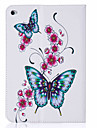 Case For Apple iPad Mini 4 iPad Mini 3/2/1 Card Holder with Stand Flip Pattern Full Body Cases Butterfly Hard PU Leather for iPad Mini 4