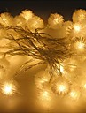String Lights 100 LEDs Warm White Remote Control / RC Dimmable Waterproof Color-Changing Linkable DC 5V DC5