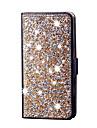 Coque Pour Samsung Galaxy S7 edge S7 Porte Carte Portefeuille Strass Avec Support Clapet Coque Integrale Brillant Dur Cuir PU pour S7
