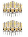 3W G4 LED Bi-pin 조명 T 48 SMD 3014 140-160 lm 따뜻한 화이트 / 차가운 화이트 / 내추럴 화이트 장식 / 방수 V 10개