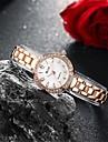 Женские Модные часы Часы-браслет Защита от влаги Кварцевый сплав Группа С подвесками Повседневная Элегантные часы Золотистый