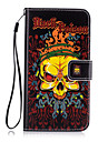 For Wallet / Card Holder / with Stand Case Back Cover Case Skull Hard PU Leather for Samsung A7(2016) / A5(2016) / A3(2016) / A7 / A5 / A3