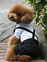 Dog Costume Tuxedo Dog Clothes Cosplay Wedding Color Block Black/White Costume For Pets