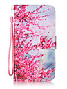 For LG K10 K8 Case Cover Peach Pattern Painting Card Stent PU Leather for K7 LS770 LS775 V20