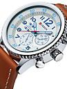 Men\'s Sport Watch Military Watch Dress Watch Fashion Watch Wrist watch Japanese Quartz Water Resistant / Water Proof Leather Band Luxury