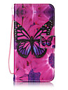 For Samsung Galaxy J7 J5 Case Cover Butterfly Pattern Painting Card Stent PU Leather