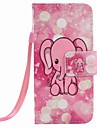 Pink Elephant Painting PU Phone Case for apple iTouch 5 6 iPod Cases/Covers