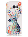 Case For Samsung Galaxy Samsung Galaxy S7 Edge Glow in the Dark Pattern Back Cover Animal Soft TPU for S8 Plus S8 S7 edge S7 S6 edge plus