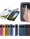 Smart View Screen Touch PU Leather Case for Samsung S4 9500