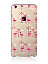 Capinha Para Apple iPhone X / iPhone 8 Plus / iPhone 7 Translucido / Estampada Capa traseira Flamingo Macia TPU para iPhone X / iPhone 8 Plus / iPhone 8