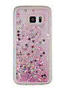 Case For Samsung Galaxy S7 edge S7 Flowing Liquid Pattern Back Cover Glitter Shine Soft TPU for S7 edge S7 S6 edge S6 S5