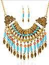 Jewelry Set Turquoise Bohemia Gold Silver Party Daily Casual 1set 1 Necklace 1 Pair of Earrings Wedding Gifts