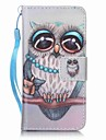 Gray Owl Painting PU Phone Case for apple iTouch 5 6 iPod Cases/Covers
