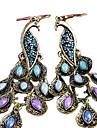 Dames Synthetische Diamant Druppel oorbellen - Kubieke Zirkonia, Strass Pauw Statement, Vintage, Folk Style Marine Blauw Voor Feest Speciale gelegenheden  Vuosipaiva