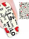 1PCS Love Design Watermark Nail Art Stickers BLE1887