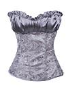 Elegant Silver Satin Classic Lolita Corset