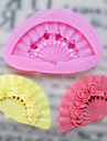 Одно отверстие Вентилятор силиконовые формы Фондант Пресс-формы Сахар Craft Инструменты Смола цветы Плесень пресс-формы для тортов