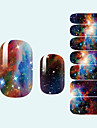 1 Autocollant d\'art de clou Autocollants 3D pour ongles Abstrait Adorable Mariage Maquillage cosmetique Nail Art Design