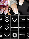 18 Nail Art Sticker Frances Guide Tips maquiagem Cosmeticos Prego Design Arte
