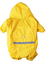 Dog Rain Coat Dog Clothes Waterproof Sports Solid Yellow Red Blue Camouflage Color