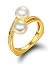 Bague Bague de fiancailles Perle Perle Imitation de perle Plaque or 18K or Dore Bijoux Mariage Soiree Quotidien Decontracte 1pc