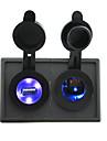 plus leger 12v / 24v prise de courant dirige et 2.1a double port USB avec panneau de support de logement pour rv camion bateau voiture