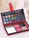1 Pcs Colorful Make-Up Box Of  24 eye shadow 2 blush  2 eyebrow powder  1 powder  4 lipstick cosmetic color random