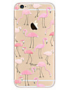 Capinha Para Apple iPhone 8 iPhone 8 Plus iPhone 6 iPhone 7 Plus iPhone 7 Ultra-Fina Estampada Capa traseira Flamingo Macia TPU para