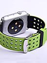 Pulseiras de Relogio para Apple Watch Series 3 / 2 / 1 Apple Fecho Classico Silicone Tira de Pulso