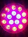 1620-1800 lm E27 Растущие лампочки 18 светодиоды Высокомощный LED Синий Красный AC 85-265V
