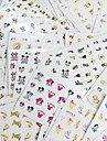 77PCS Different Styles Fashion Cartoon pattern Nail Art Water Transfer Stickers