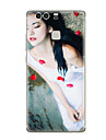 Case For Huawei P9 Huawei P9 Lite Huawei P8 Huawei Huawei P9 Plus Huawei P8 Lite Pattern Back Cover Sexy Lady Soft TPU for