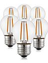 2W E26/E27 Lampadas de Filamento de LED G45 2 leds COB Decorativa Branco Quente 190lm 2700K AC 220-240V