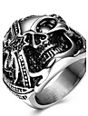 Массивные кольца Кольцо Уникальный дизайн Мода Панк По заказу покупателя Euramerican Титановая сталь В форме черепа Бижутерия Бижутерия