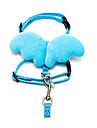 고양이 강아지 하니스 통기성 리본매듭 나일론 옐로우 레드 그린 블루 핑크