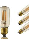 5W E26/E27 LED лампы накаливания T 4 светодиоды COB Диммируемая Декоративная Янтарный 350lm 2200K AC 220-240V