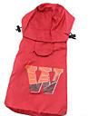 Cachorro Capa de Chuva Roupas para Caes Casual Esportes Formais Marron Vermelho Rosa claro