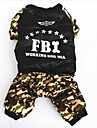 Dog Coat Jumpsuit Dog Clothes Casual/Daily Sports Solid Camouflage Color Costume For Pets
