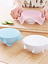 1Pcs New Multi-Functional Silicone Saran Wrap Reusable Cling Film Refrigerator Food Storage Cover Kitchen Vacuum Lid Sealer  Random  Color