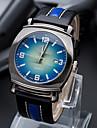 Men\'s Fashion Watch Casual Watch Quartz PU Band Black Blue Brown Green