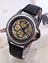 Men\'s Sport Watch Dress Watch Skeleton Watch Fashion Watch Wrist watch Mechanical Watch Automatic self-winding Genuine Leather Band Charm