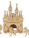 פאזלים מעץ צעצועים טירה בניין מפורסם ארכיטקטורה סינית בית רמה מקצועית 1 חתיכות