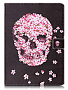 For Card Holder Wallet with Stand Flip Pattern Case Full Body Case Skull Hard PU Leather for iPad (2017) Pro10.5 Pro9.7 iPad Air Air2 iPad234