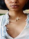 Pentru femei Obsidian Coliere Choker - Imitație de Perle Personalizat, Design Unic, Modă Auriu, Argintiu Coliere Bijuterii Pentru Afaceri, Zilnic, Casual